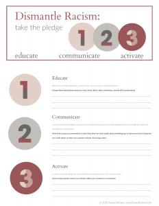 Take the Pledge Worksheet